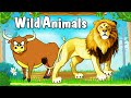 Learn Types Of Wild Animals Animated  For Kids English Learning  For Kids  Mp3 - Mp4 Download