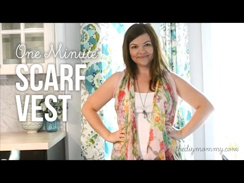 How to Make a Drapey Kimono Vest from a Scarf