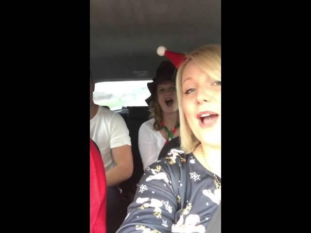 Funny family car lip sync
