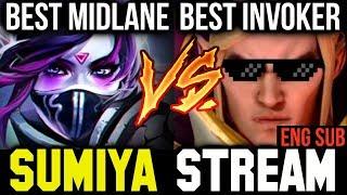 SUMIYA Stream #4 - Best Invoker vs Paparazi Best Midlaner Dota 2