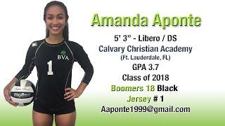 Amanda Aponte - 2017 Libero Highlight Volleyball Video