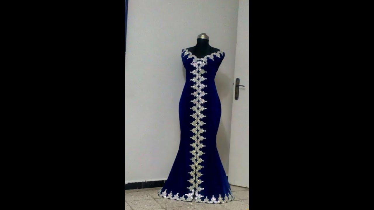 8c5630ec4 خياطة فستان السمكة بقماش الدان جابوني المشهور - YouTube