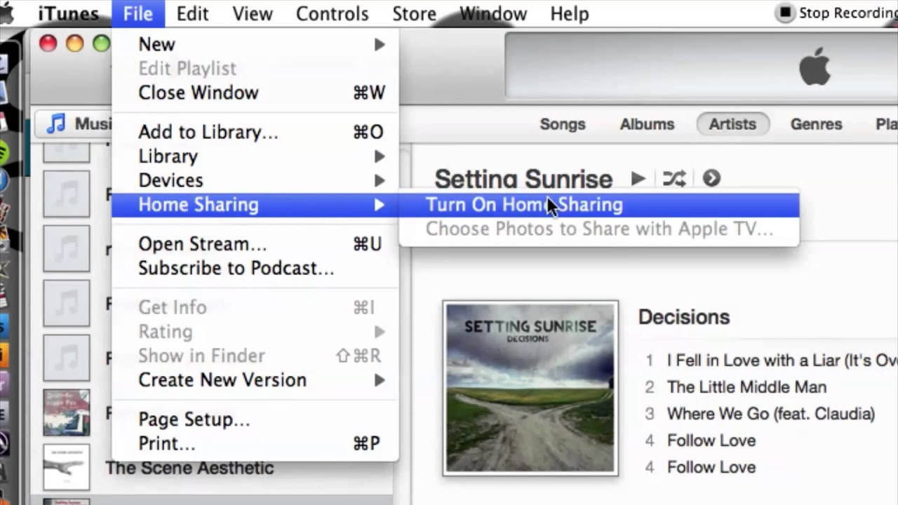 Streaming iTunes to Another MacBook iTunes Use Media