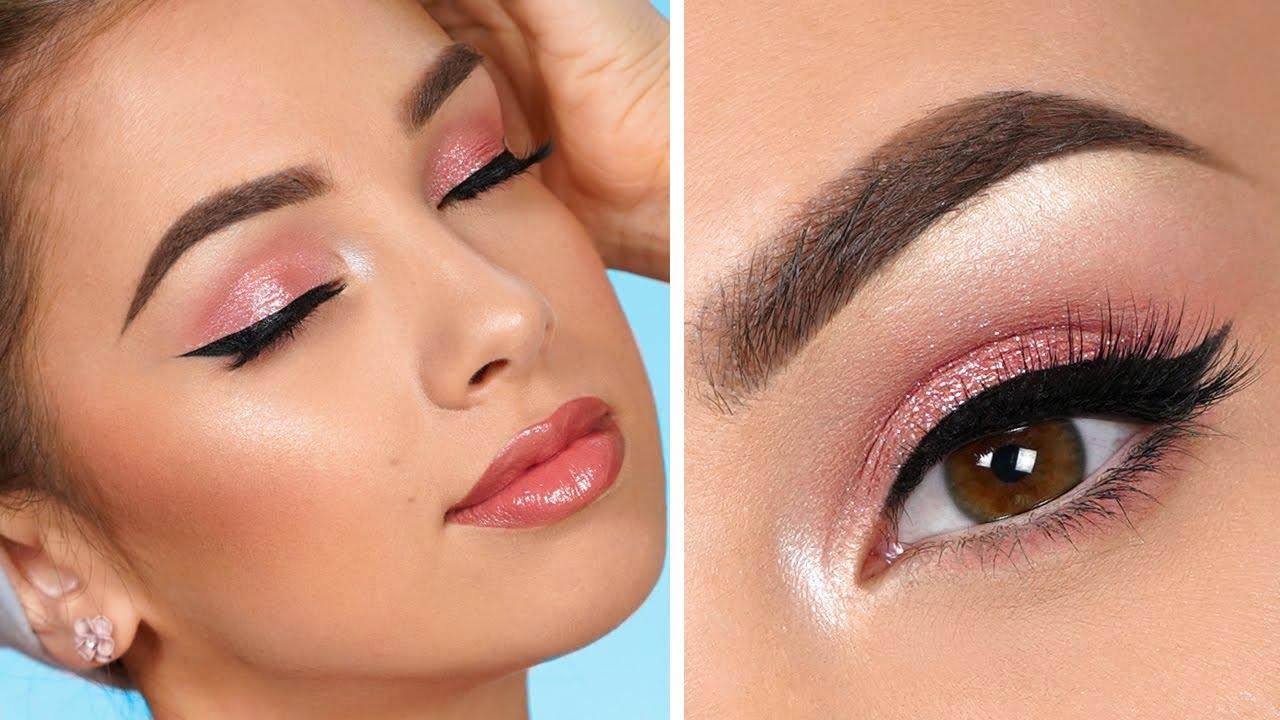 EASY Pink Smokey Eye Makeup Tutorial
