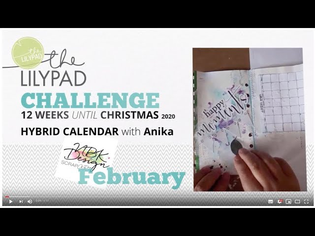 Mixed Media: 12 weeks until Christmas - February - Hybrid Calendar with AnikA_goesMixedMedia