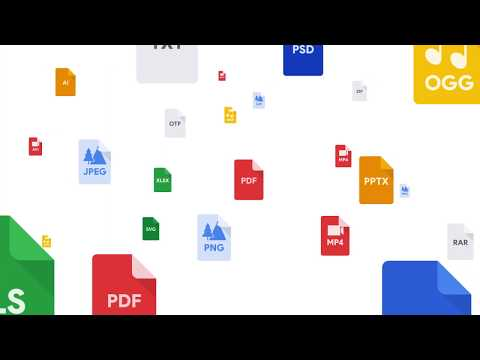 Uploading content is easy with Google Drive