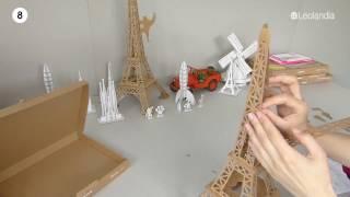 Leolandia cardboard Eiffel Tower assembly_short