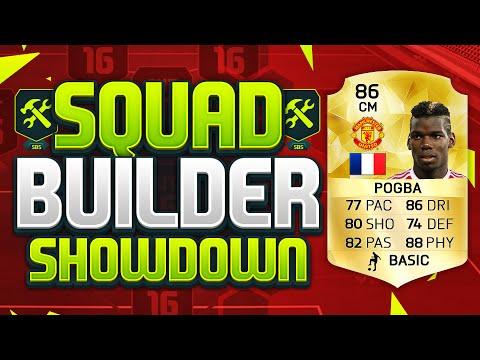 FIFA 16 SQUAD BUILDER SHOWDOWN!!! MAN UNITED POGBA!!! Manchester United Paul Pogba Squad Duel