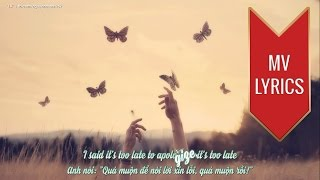 Apologize | Timbaland ft. OneRepublic | Lyrics [Kara + Vietsub HD]