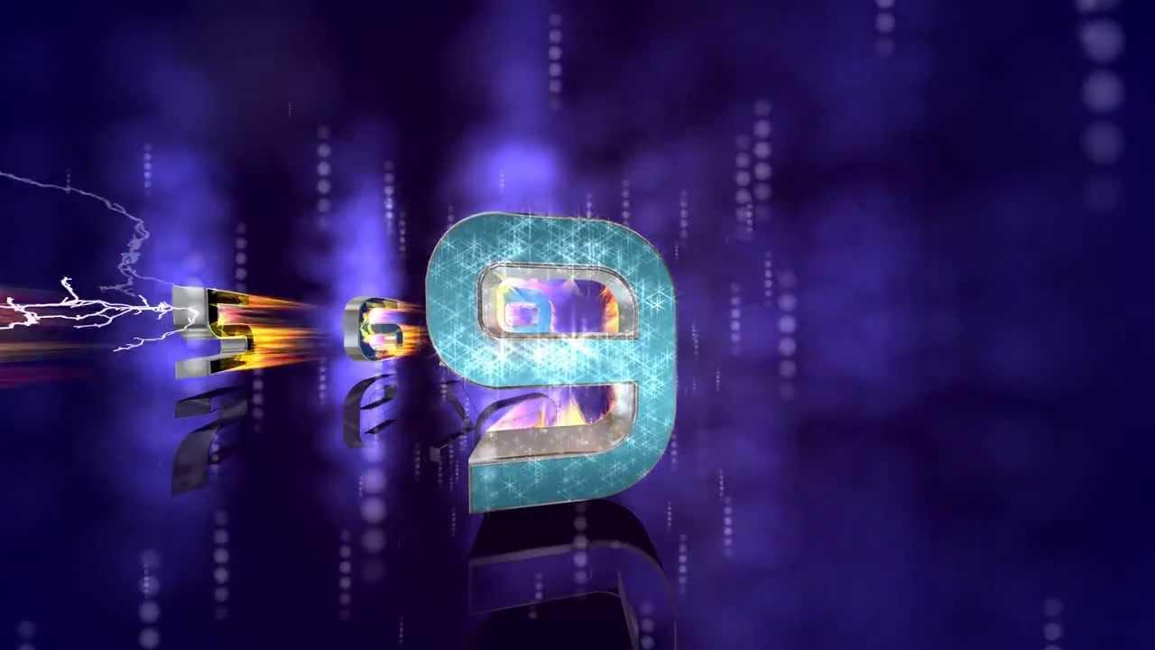 True 60FPS 4K Coolest Fire Countdown Animation UltraHD AA VFX