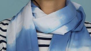 Dip-Dyed Scarves - Martha Stewart