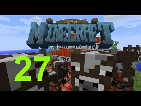 """Minecraft: SMP HOW TO MINECRAFT #27 """"COW FARM"""" with JeromeASF"""