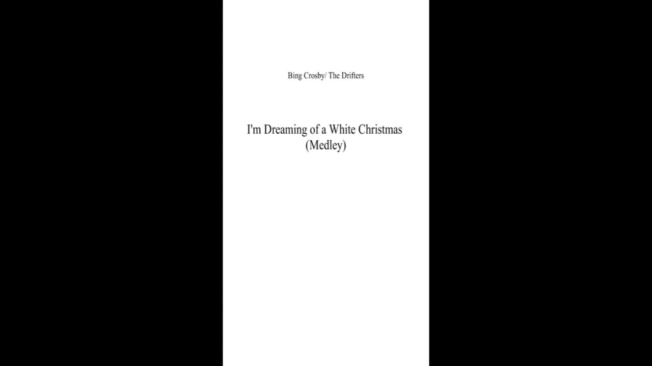 I\'m Dreaming of a White Christmas Medley - YouTube