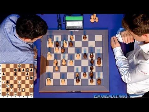 Crazy Endgame!!! Magnus Carlsen Vs Laurent Fressinet - Blitz Chess 2016