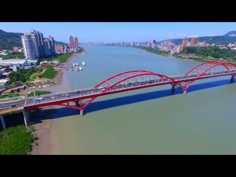 淡水 【關渡大橋】空拍 Tamsui River Guandu Bridge from Above
