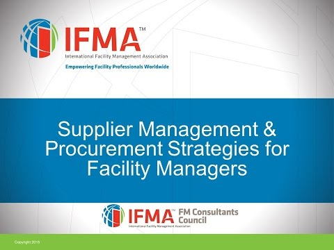 2015 07 23 12 00 FMCC   Supplier Management   Procurement Strategies for Facility Managers