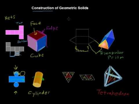 How to Construct Standard Solid Geometry Figures - Algebra Tips