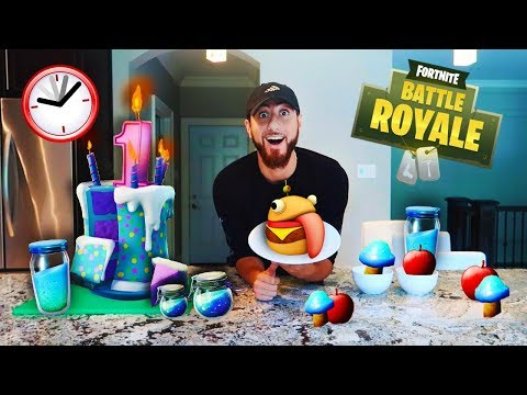 I Only Ate Fortnite Foods For 24 Hours! (IMPOSSIBLE FOOD CHALLENGE)