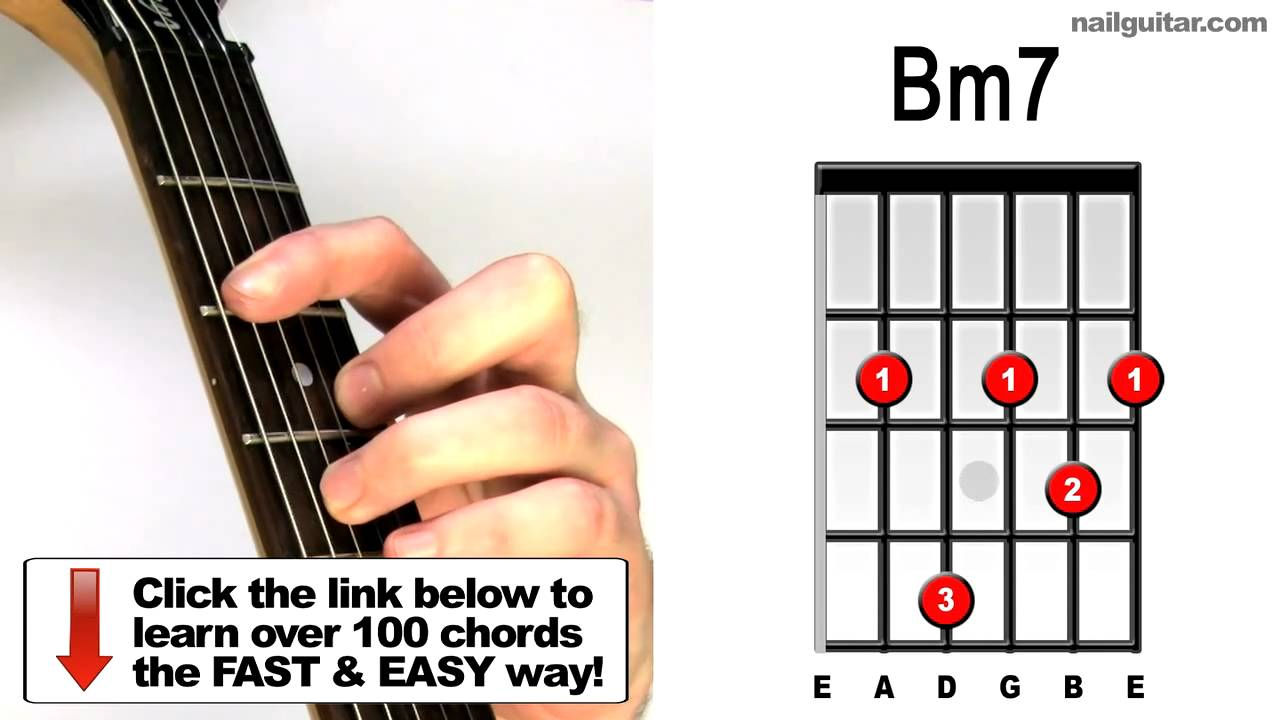 Bm7 Play Guitar Chords Tutorial Youtube
