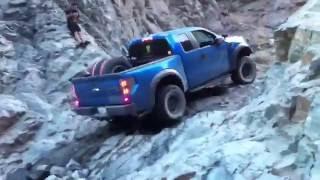 Ford Raptor Wet Rock Climb 5