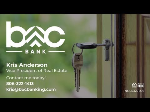 Amarillo VA loan first time home buyer at BOC Bank