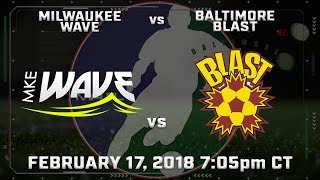 Milwaukee Wave vs Baltimore Blast thumbnail