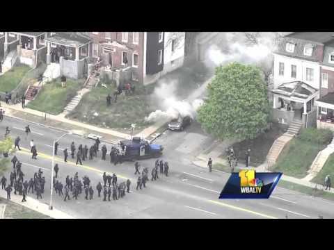 Tensions ran high during Baltimore riots