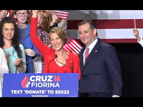 Ted Cruz Announces Carly Fiorina as VP Pick