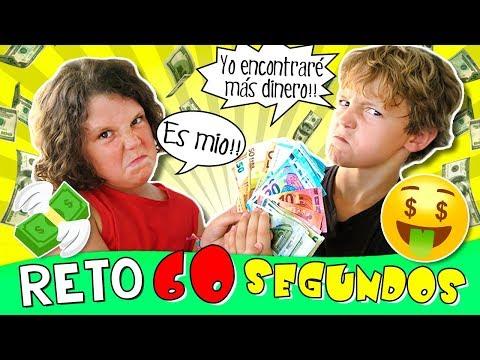 🤑 60 SEGUNDOS para encontrar 100€ en nuestra NUEVA casa 🏠 ¡¡PELEA de HERMANOS!! 😡 Retos de niños