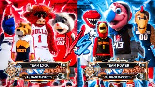 NEW MASCOT WARS GAME MODE in NBA 2K20! *INSANE* 4v4 ALL GIANT MASCOTS on ONE COURT! NEW PARK NBA2K20