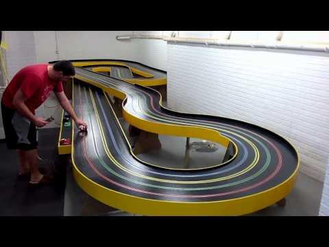 Slot Car Track, JK Indy on RED lane