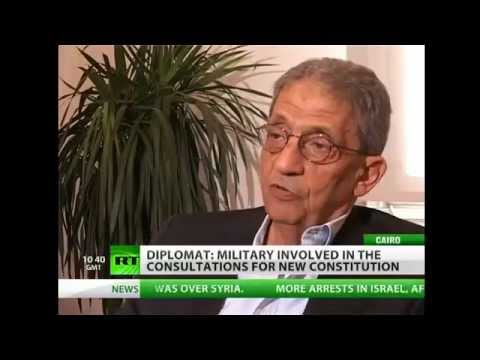 Egypt : Amr Moussa says revolt hijacked by Secret Societies, was never religious (Jun 25, 2012)