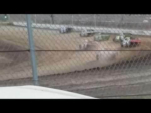 Steven Bowers Jr 3-24-17 heat race win at rpm speedway hays kansas