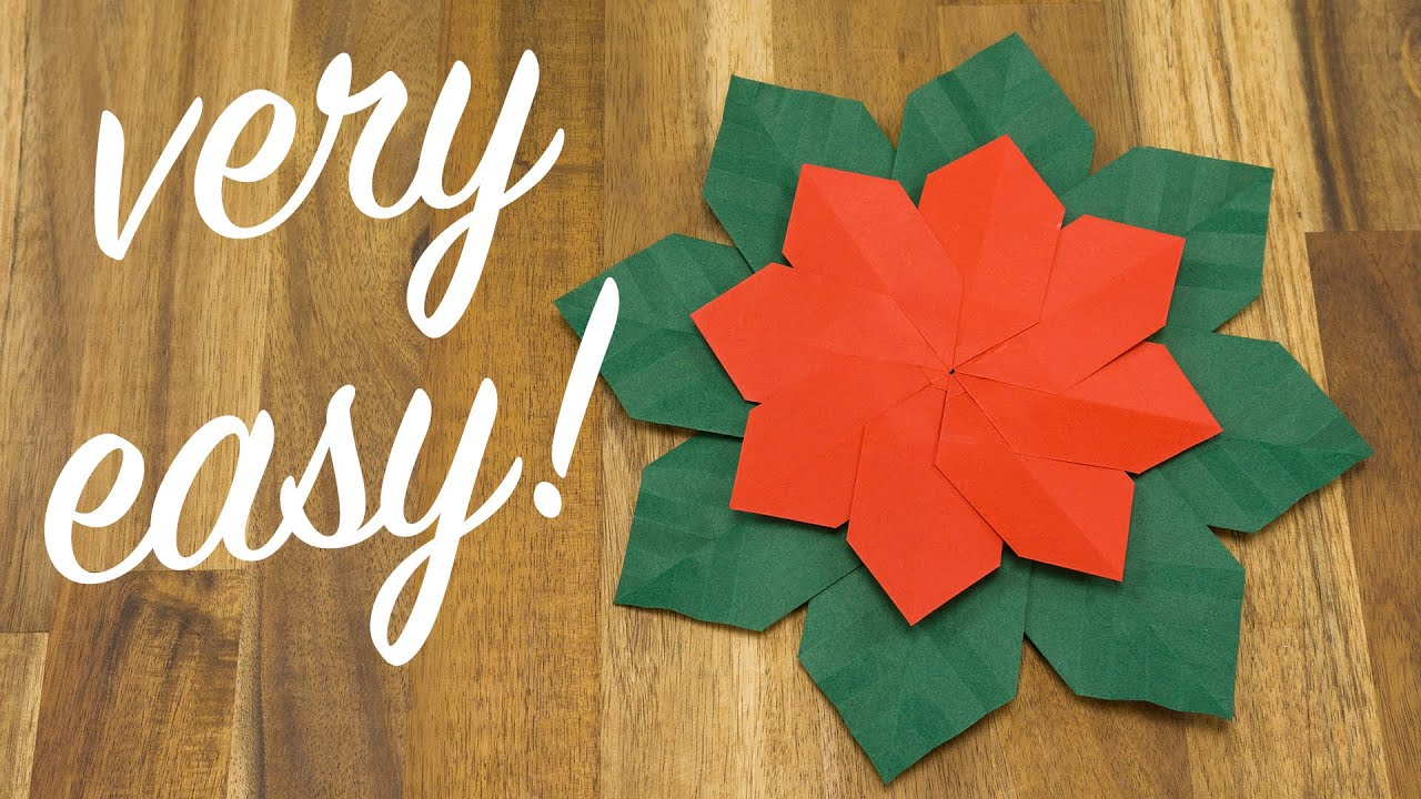 Origami christmas flower making how to easily make xmas paper origami christmas flower making how to easily make xmas paper flowers mightylinksfo