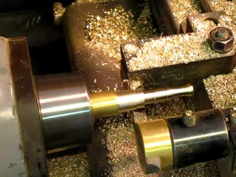 Machining of a P.E.T.E. from raw brass bar stock