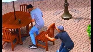 This Guy is Crazy! Chair Pulling Prank
