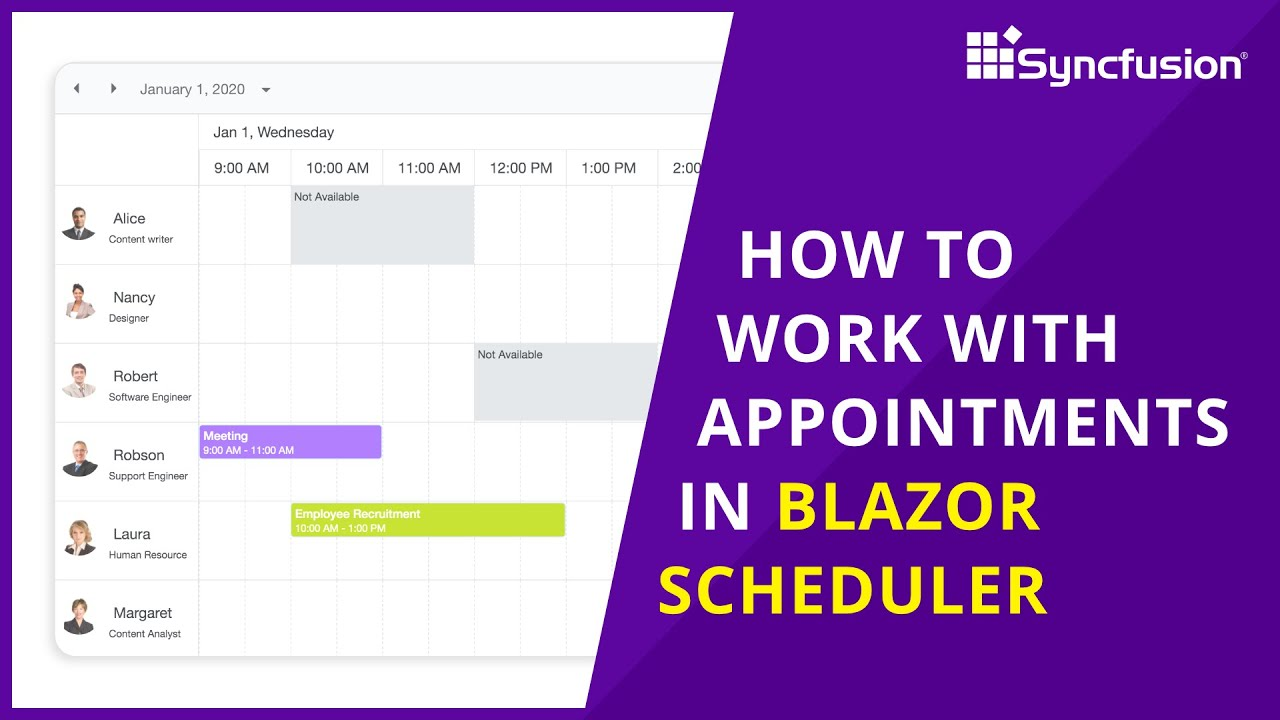 How to Work with Appointments in Blazor Scheduler
