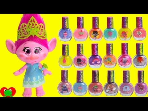 Trolls Dreamworks 18 Layers of Nail Polish on Poppy Peeling Off