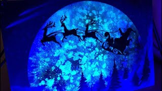 Dashing through the Snow GLOW IN THE DARK - SPRAY PAINT ART by Skech