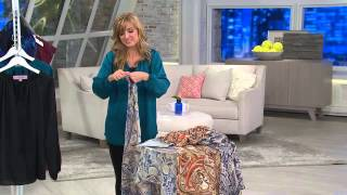Nicole Richie Collection Printed Handkerchief Scarf w/ Tassel with Jennifer Coffey