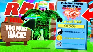 I Found a HACKER ONLY Server In Roblox Ninja Legends!! *Free Stat Glitched Pets*