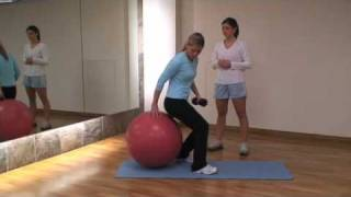 Sexy Abs Workout: Physio Ball Crunches