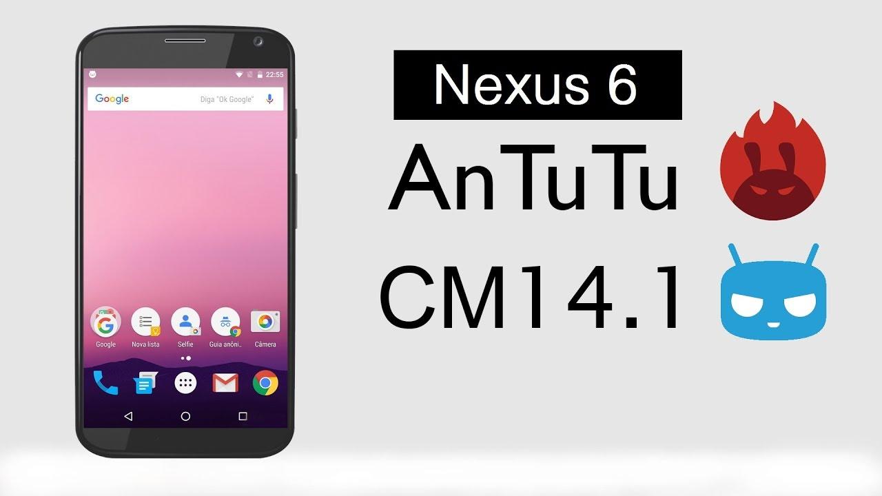 Google Nexus 6 CyanogenMod 14.1 Android Nougat 7.1.1 ...