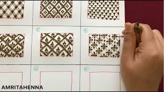 HENNA MEHNDI ONLINE CLASS - TYPES OF GRID/NETTING PATTERNS | PRO LEVEL MEHENDI LEARNING TUTORIAL
