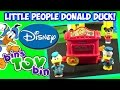 Fisher-Price Disney Little People Donald Duck Popcorn Cart Set Review! by Bin's Toy Bin