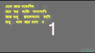 Aaj ei dintake   Kishore Kumar Bangla Karaoke