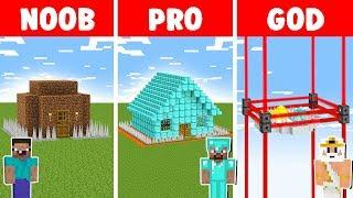 Minecraft NOOB vs PRO vs GOD: ZOMBIE BASE DEFENSE CHALLENGE in minecraft - Animation