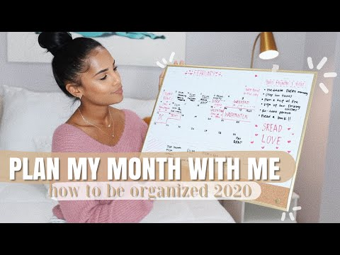 Plan My Month With Me: How To Stay Organized 2020