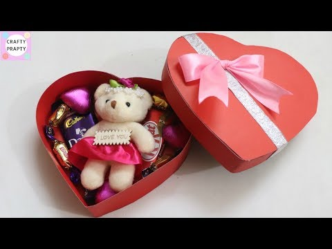 DIY Valentine's day gift Idea / DIY Heart shape Box / How to make chocolate box / DIY Love box