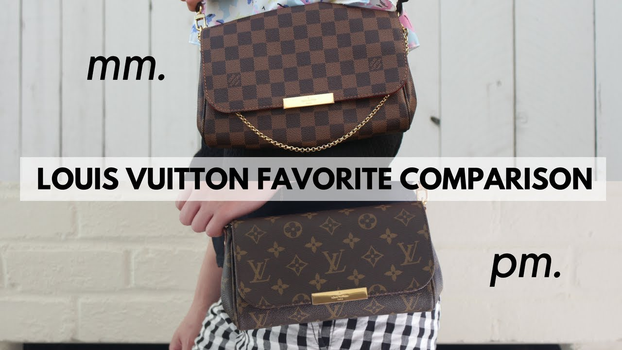 d12b332b245e LOUIS VUITTON FAVORITE MM VS PM COMPARISON - YouTube